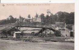 MORLANWELZ  9 STATION ET PASSERELLE . DANS LE FOND LA CRECHE ET LA MATERNITE 1909 - Morlanwelz