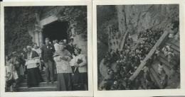 39Gm      83 Sainte Baume Lot De 2 Photos Montée Et Sortie De La Grotte En 1943 - Bormes-les-Mimosas