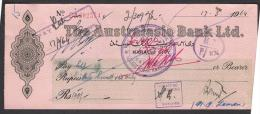 CHEQUE - THE AUSTRALASIA BANK LTD. PAKISTAN Karachi City 17.3.1964 - Bank & Insurance