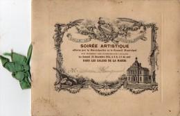 VILLE De SAINT  MAUR Des FOSSES -  SOIREE  ARTISTIQUE - PROGRAMME - INVITATION  20 Décembre 1924 - DOCUMENT  RARE... - Programs