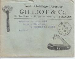 Lettre à Entête Publicitaire, Tout L'outillage Forestier Gillot Et Cie - Publicités