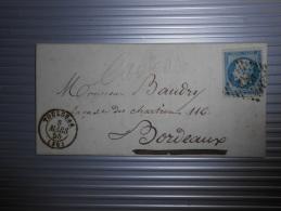 Lot Du 16.09.13-10_lettre Laiteux Et Variété - 1853-1860 Napoléon III.
