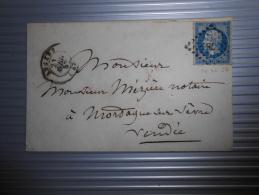 Lot Du 16.09.13-13_lettre  Avec N°14  Nuance Et Variété, - 1853-1860 Napoléon III.