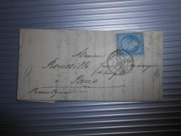 Lot Du 16.09.13-16_ Lettre  Avec N°14  Nuance Et Variété,verso - 1853-1860 Napoléon III.