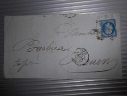 Lot Du 16.09.13-17_ Lettre  Avec N°14  Nuance Et Variété,verso - 1853-1860 Napoléon III.