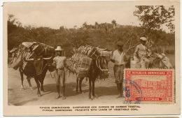 Tipicos Dominicanos  Campesinos Con Cargas De Carbon Vegetal Marchands De Charbon Coal - Dominicaine (République)