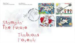 2000   Stampin´ The Future Children´s Design Contest  Sc 1859-62  Block Of 4 Different - 1991-2000