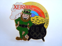 Pins Pin's St. Patrick's Day 2004 Xeros USA Sponsor Jeux Olympique. Olympische Spelen - Olympische Spelen