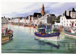 D  44 Le Port Du Croisic  Presqu Ile Guerandaise  Aquarelle - France