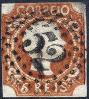 PORTUGAL N° 5b OBLITERE - 1855-1858 : D.Pedro V