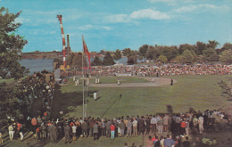 Baseball Game At Small Stadium , Parc Sauve , Salaberry De Valleyfield , Quebec , Canada , 50-60s - Quebec