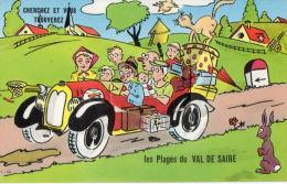LE VAL DE SAIRE (50) Carte à Système Dépliant Plages Du Val De Saire - France