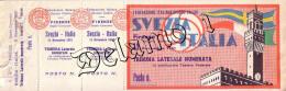 Naz. Di Calcio Italiane.--FIRENZE-- Biglietto Originale Incontro ---- ITALIA -- SVEZIA1951 - Apparel, Souvenirs & Other