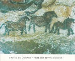 PLAQUETTE POUR EDITION DE TIMBRE MONACO GROTTE LASCAUX PETITS CHEVAUX DESSIN DIFFERENTS CHEVAUX CHEVAL - Timbres
