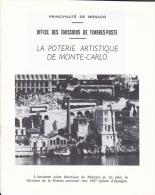PLAQUETTE POUR EDITION DE TIMBRE MONACO POTERIE ARTISTIQUE DE MONTE CARLO - Stamps