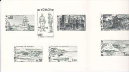 PLAQUETTE POUR EDITION DE TIMBRE MONACO CARRIERE D UN NAVIGATEUR ALBERT 1 ER PRINCE DE MONACO - Stamps