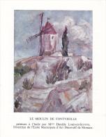PLAQUETTE POUR EDITION DE TIMBRE MONACO MOULIN DE FONTVIEILLE DAUDET - Stamps