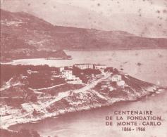 PLAQUETTE POUR EDITION DE TIMBRE MONACO CENTENAIRE DE LA FONDATION DE MONTE CARLO 1866 1966 - Stamps