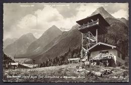 CPSM-PHOTO ANCIENNE- ALLEMAGNE- CHALET-REFUGE  DE MONTAGNE ET TOUR EN BOIS-2 SCANS - Leutasch
