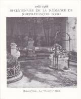 PLAQUETTE POUR EDITION DE TIMBRE MONACO BI CENTENAIRE DE LA NAISSANCE DE JOSEPH FRANCOIS BOSIO 1968 - Stamps