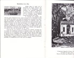 PLAQUETTE POUR EDITION DE TIMBRE MONACO COMITE NATIONAL DES TRADITIONS MONEGASQUES 1974 - Stamps