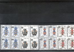4 Blocs De 4 N° 109/12 *** De 1983 - Service