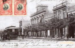 CALLAO (Pérou) Rue De Lima Tramway électrique Beau Plan - Peru