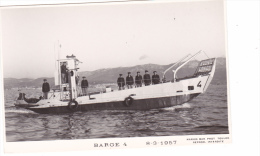 Batiment Militaire Marine Nationale Barge 4         8-3-1957 Marius Bar Equipage - Guerra