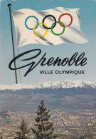 Cp , 38 , GRENOBLE , Vue Panoramique Et Chaîne De Belledonne , J.O D'Hiver Grenoble 1968 - Grenoble