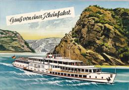 Greetings Gruss Von Einer Rheinfahrt