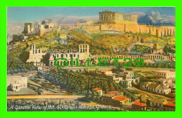 ATHENS, GREECE - A GENERAL VIEW OF THE ACROPOLIS - THE FOUR ACES - THE AMERICAN EXPORT LINES - - Grèce