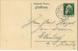 Bayern / Karte P 87 I  /  Kempten 1912 - Ganzsachen