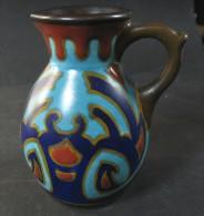 Petit Mais Superbe Pichet En Céramique Plazuid Gouda Holland, époque Art Déco - Gouda (NLD)