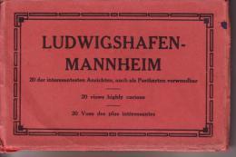 Rare Carnet Ludwigshafen Mannheim 20 X Interessantesten Anschten Ligne Du Tram Usines Winterhafen Blick Markt Borse Post - Ludwigshafen