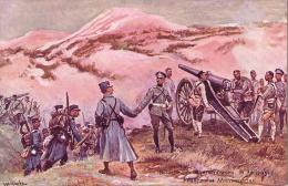 Bataille Des Monts Lowsen (1914)Français Et Monténégrins - CPA - PUB SOLUTION PAUTAUBERGE - Guerre 1914-18