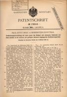 Original Patentschrift - P. Uhlig In Hohenstein-Ernstthal , 1905 . Zerkleinerungsmaschine Für Lebensmittel !!! - Maschinen