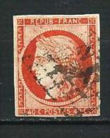 """YT 5 """" Cérès 40c. Orange Vif """" 1850 Grille - 1849-1850 Cérès"""