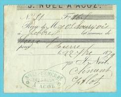 BRASSERIE BRASSEUR  NOEL-DEMERBE ACOZ  1870  (3070) - Belgique