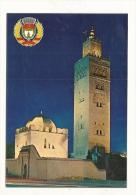 """Cp, Maroc, Marrakech, Mosquée """"La Koutoubia"""", écrite - Marrakech"""