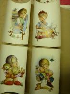 Lot De 4 Affichettes Ou Gravures Enfantines  Couleurs , Dimensions Unitaire = 32cm X 23cm - Other Collections