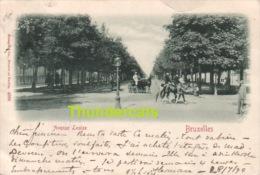 CPA  BRUXELLES AVENUE LOUISE 1899 !! - Avenues, Boulevards