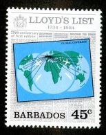 1916x)  Barbados 1984 - Sc # 627  Mnh**  ( Catalogue $1.05) - Barbados (1966-...)