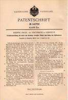 Original Patentschrift - H. Nagel In Rebreuve , 1901 , Tiefbohreinrichtung , Erdbohrer , Tunnelbau !!! - Machines