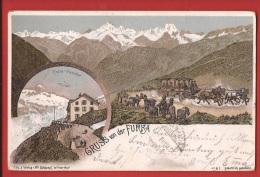 YDiFurk-02 Gruss Von Der Furka Post Poste De La Furka, Précurseur, Cachet 1901 - VS Valais