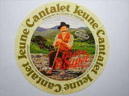 TGE15001 - étiquette De Fromage CANTALET Jeune - F.C.A. Aurillac - Cantal 15CC - Fromage
