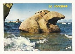 Cp, 22,  Trébeurden, Les Rochers De La Sorcière Et Le Dé à Marée Haute - Trébeurden