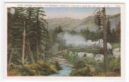 SP Southern Pacific Railroad Train Cow Creek Canon Oregon 1920c Postcard