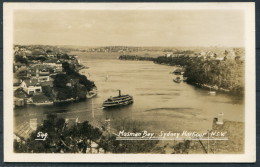 1935 Australia Sydney Harbour - Mosman Bay - RP Postcard - Sydney