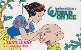Télécarte Japon DISNEY ON ICE - BLANCHE NEIGE & NAIN Simplet Film Cinema - SNOWWHITE & DWARFJapan Movie Phonecard - Disney