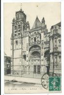 CPA -GISORS -L' EGLISE -LE PORTAIL -Eure (27) -Circulé 1910 - Gisors